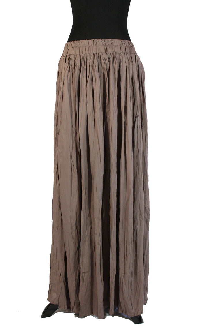 Pleated Maxi Skirt - Taupe