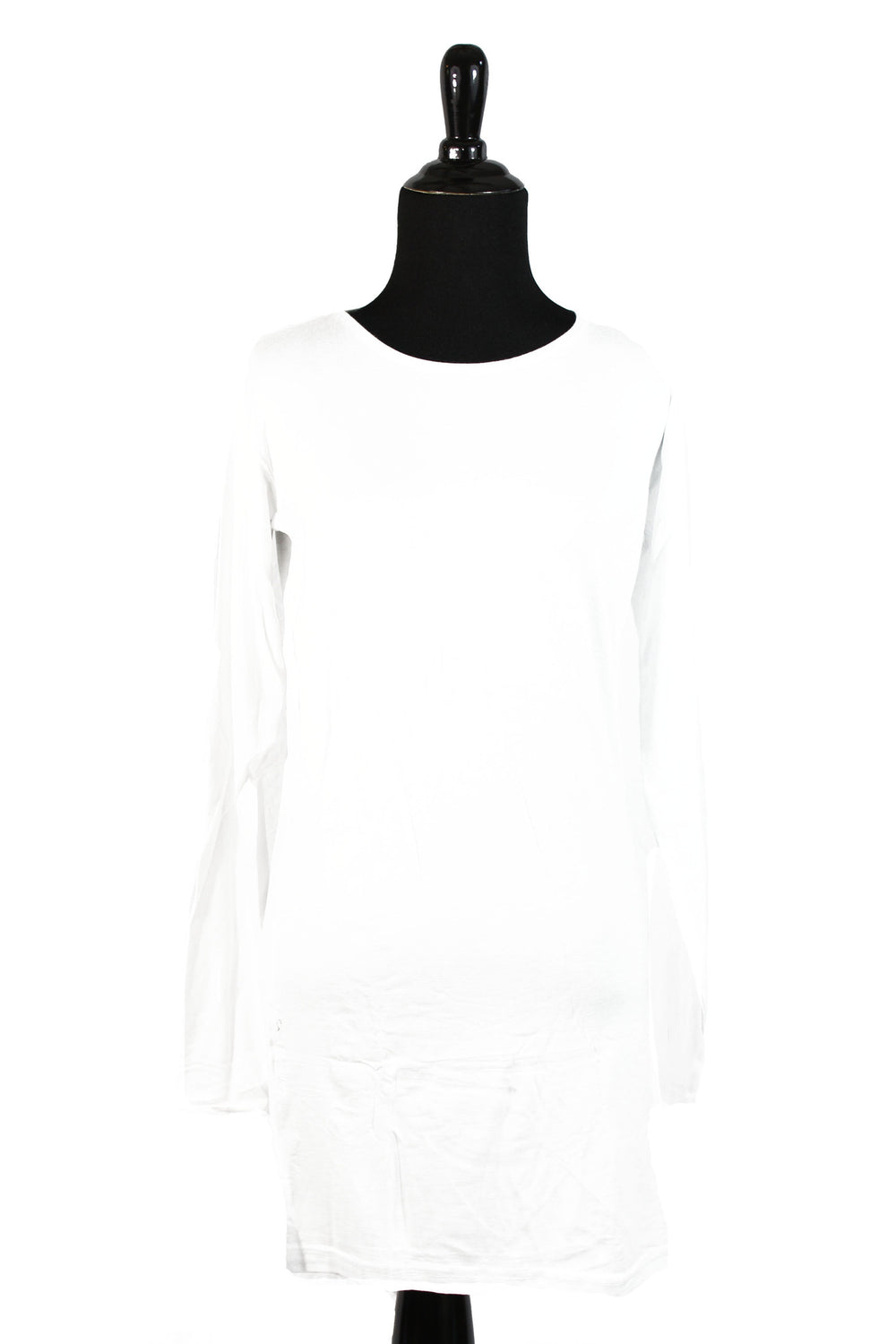 Extra Long Sleeve Basic Top - White