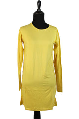 Extra Long Sleeve Basic Top - Yellow
