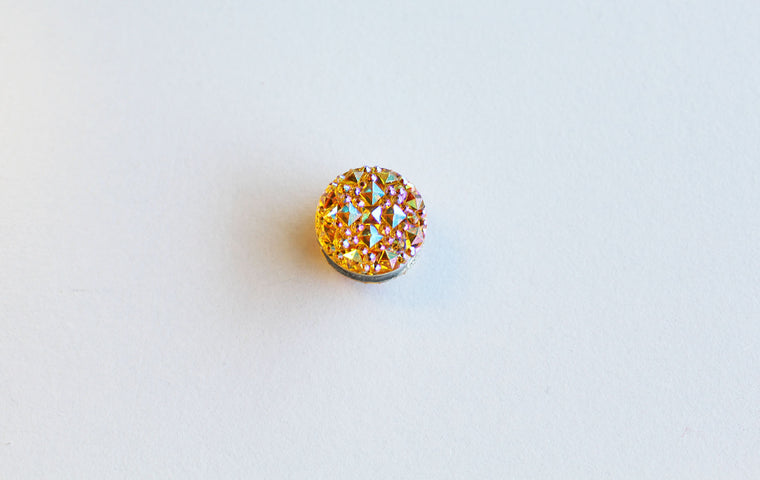 Rhinestone Magnetic Pin - Yellow