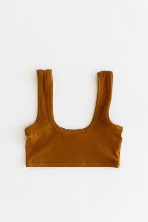 WIDE STRAP BRA, toffee