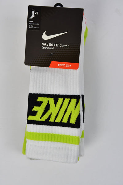 Nike 3 Pack Dri-FIT Fly Crew Socks - Mens Size Large 8-12
