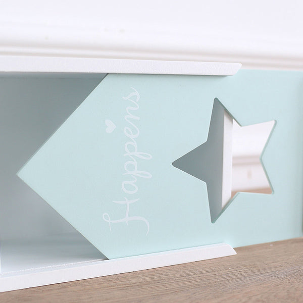 Miz Home 1 Piece Wooden Tissue Box for Home Mint Green Color Home Storage Handmade Home Storage for Living Room