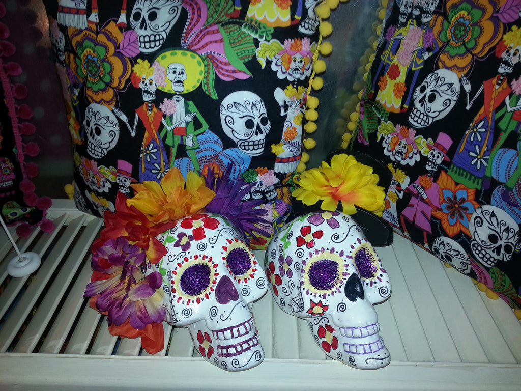 Hand Painted Sugar Skulls New At Stitched Boutique