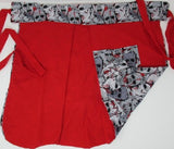 Retro Inspired Ruby Red Zombie Sweetheart Apron