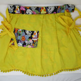 Retro Inspired Yellow Fiesta Sugar Skull Apron