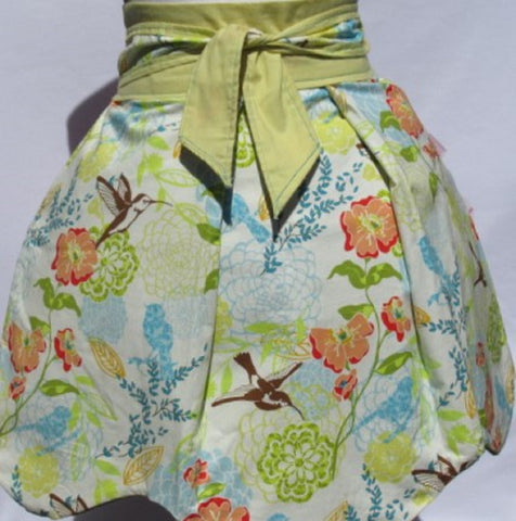 Retro Inspired Spring Birds Half Length Aprons
