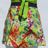 Retro Inspired Bird of Paradise Half Length Apron