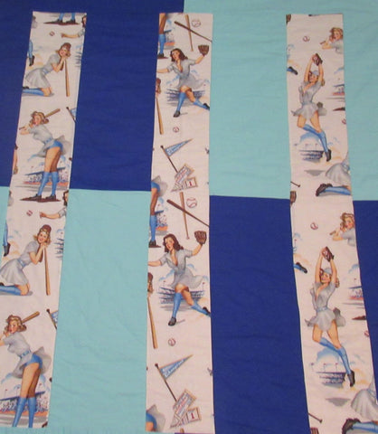 Pin up Baseball Girls Quilt