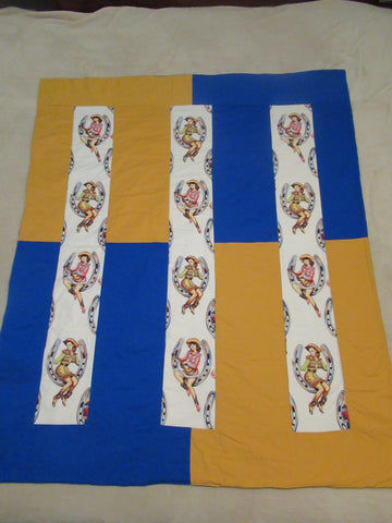 Pin up Horseshoe Cowgirls  Quilt