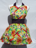 Retro Inspired Birds of Paradise Full Length Apron