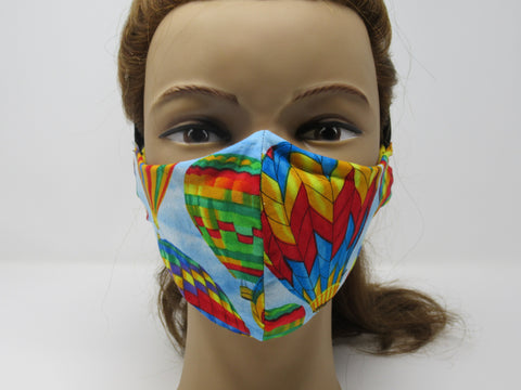 Vibrant Hot Air Balloon Reversible Face Mask