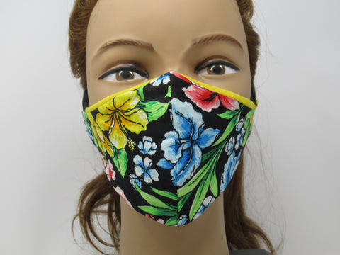 Hawaiian Floral Reversible Face Mask