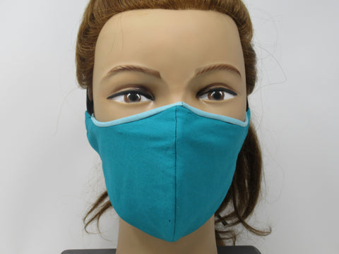 Teal and Sky Blue Reversible Face Mask