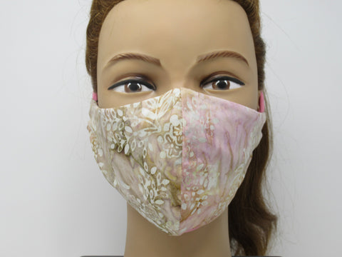 Pink Paisley Large Full Coverage Reversible Face Mask