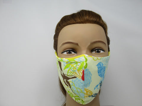 Spring Birds Large Full Coverage Reversible Face Mask