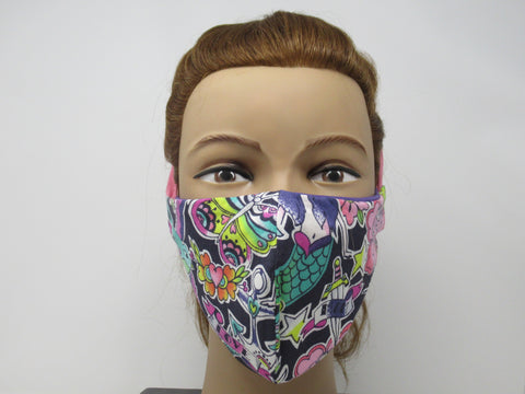 Pink Mermaid Large Full Coverage Reversible Face Mask