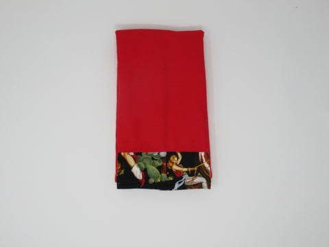 Bright Red Retro Cowgirls Terry Cloth Kitchen Towel