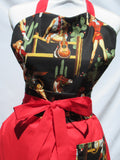 Retro Inspired Re Lasso Cowgirl Sweetheart  Apron
