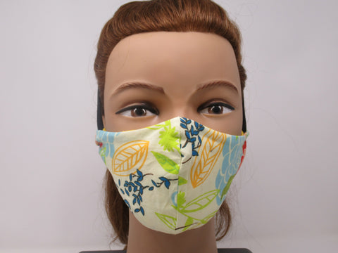 Spring Floral and Sunshine Yellow Reversible Face Mask