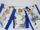 Pin up Baseball Girls Terry Cloth Kitchen Towel