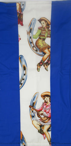 Pin up Horseshoe Cowgirls Terry Cloth Kitchen Towel
