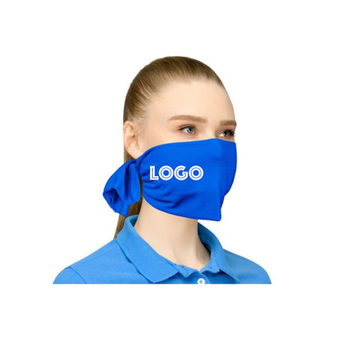 Custom logo tie back mask