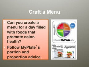 Nutritional Strategies for Colon Health PowerPoint Handout Set - DOWNLOAD - Nutrition Education Store