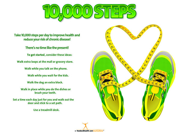 "10K Steps Banner 48"" X 36"" Vinyl - Nutrition Education Store"