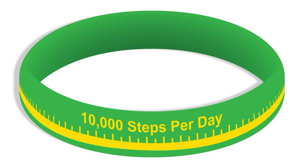 10K Steps Wristbands Adult - Pack of 20 - Nutrition Education Store