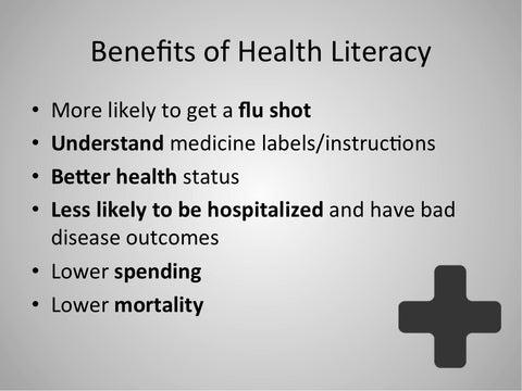 Health Literacy PowerPoint - DOWNLOAD - Nutrition Education Store