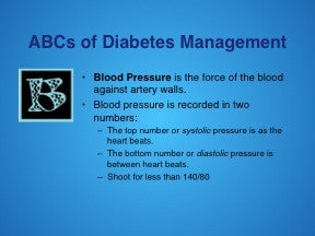 Diabetes 101 PowerPoint and Handout Set - English and Spanish