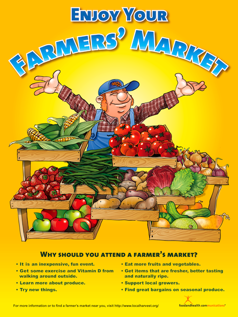 Enjoy Your Farmer's Market Poster - Nutrition Education Store