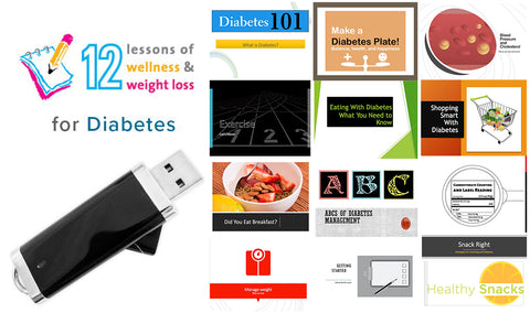 12 Lessons of Diabetes Program on Flash Drive - Nutrition Education Store