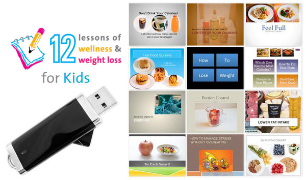 12 Lessons Wellness and Weight Management for Kids and Teens