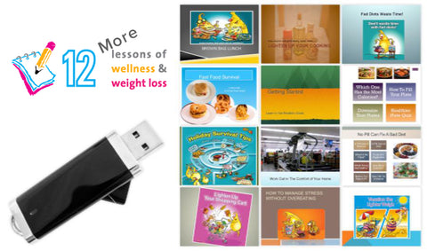 12 MORE Lessons Wellness and Weight Loss Program on Flash Drive - Nutrition Education Store