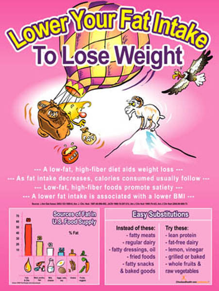 Lower Fat for Better Weight Control Poster - Nutrition Education Store