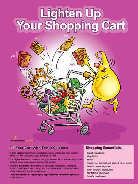 Shopping Light Poster - Nutrition Education Store