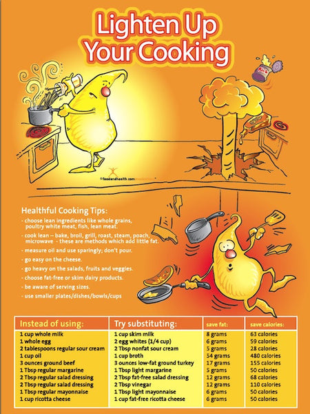Lighten Up Your Cooking Poster - Nutrition Education Store