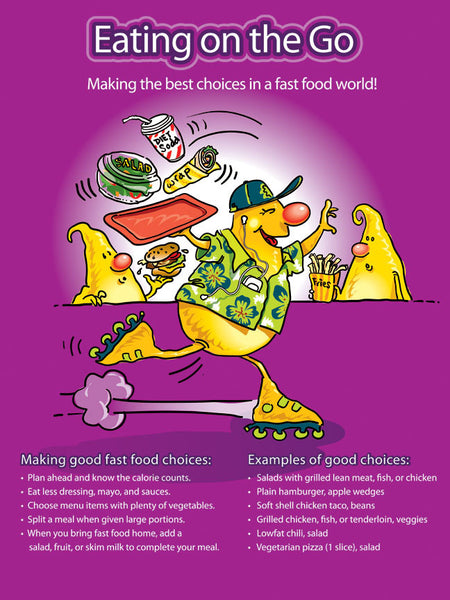 Eating On the Go: Fast Food Alternatives Poster - Nutrition Education Store