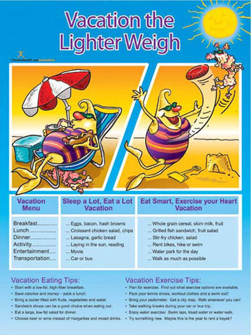 Vacation Light Poster - Nutrition Education Store