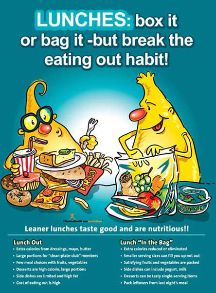 Brown Bag It Lunch Poster - Nutrition Education Store