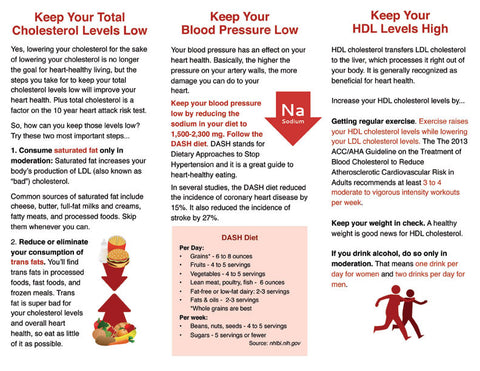 Heart Brochure - Lower Your Heart Attack Risk Score - Packet of 25 - Nutrition Education Store