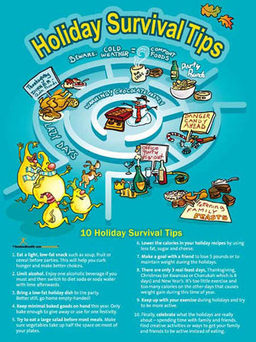 Holiday Lights: Survival Tips to Keep Off the Pounds Poster - Nutrition Education Store