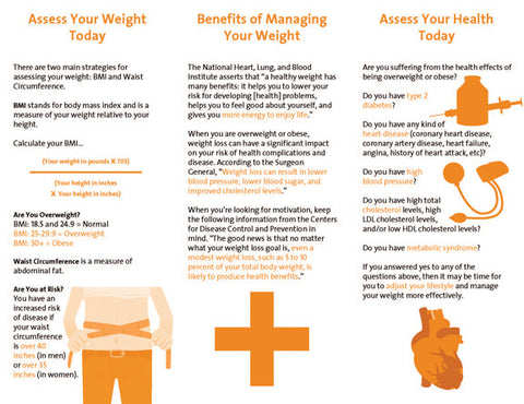 Weight Management Brochure Do You Need to Lose 25 Brochures