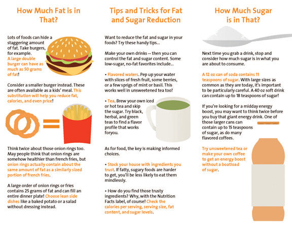 Weight Management Brochure Building Sugar and Fat ...