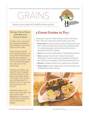 Go For the Whole Grain Poster - Nutrition Education Store