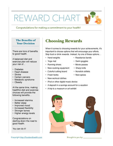 Reward Chart Tearpad - Nutrition Education Store