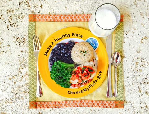MyPlate Plate Plastic - Nutrition Education Store Exclusive Design - 1 Plate With Free Shipping - Nutrition Education Store
