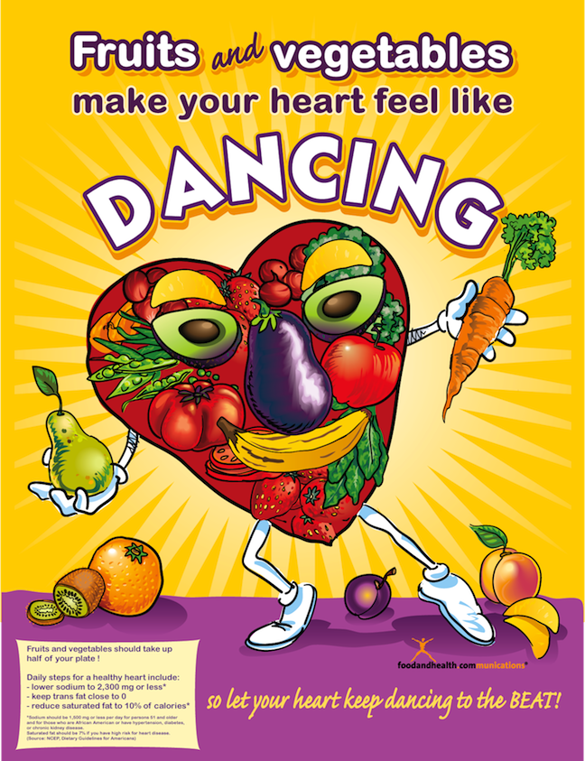 Dancing Heart Poster - Nutrition Poster - Nutrition Education Store
